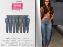 [COSMOS] Farina Leggings Denim / 6 Colors Fatpack