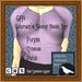 GPA Women's Scoop Neck Top - Purple Crocus Petal (ADD to unpac