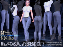 MALified: Casual Weekend Outfit (Light Blue): Maitreya Only