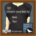 GPA Women's Scoop Neck Top - Black Onyx (ADD to unpack)