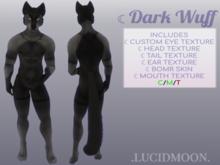 .LUCIDMON. Dark Wuff Regalia (M) Graphite BOMR