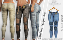 COLLETE FEMALE PANTS BLUE JEANS MESH - MAITREYA - FREYA - LEGACY - FashionNatic