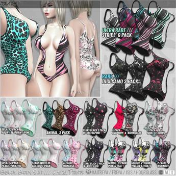Razor/// Belly Body Suit - Splat - Peach/Pink/Vio - 3Pack
