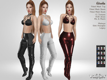 Vaxer : Gisela Outfit - Maitreya, Slink Hourglass and Legacy. 12 Textures HUD. Mix & Match