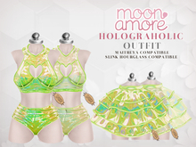 :Moon Amore: Holograholic OUTFIT (LIME)