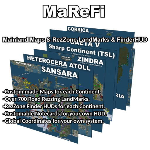 Mainland Maps & RezZone LandMarks & FinderHUD (MAREFI)