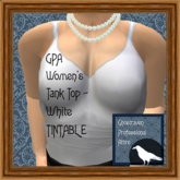 GPA Women's Tank Top - White TINTABLE (ADD & touch)