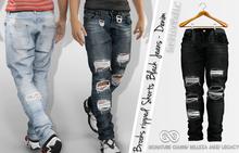 BROOKS BLACK JEANS - DENIM PANTS MALE - MESH - GIANNI - BELLEZA JAKE - LEGACY - FashionNatic