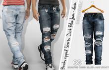 FashionNatic - Brooks Ripped Pants Dark Blue Jeans - Denim - Signature Gianni, Belleza Jake, Legacy