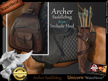 *.* Archer saddlebag-WH-Unicorn Bento