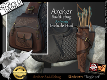 *.* Archer saddlebag-Teegle-unicorn  - wear to unpack