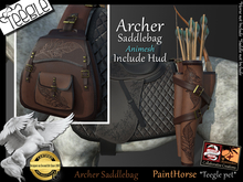 *.* Archer saddlebag-Teegle-PainterHorse  - wear to unpack