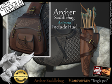 *.* Archer saddlebag-Teegle-Hanovereian  - wear to unpack