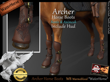*.* Archer Horse Boots-WH-WarmBlood  - wear to unpack