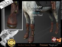 *.* Archer Horse Boots-Teegle-Friesian