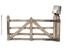 Nutmeg. Rustic Fence Set