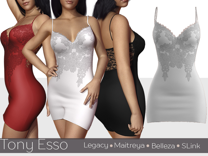 Tony Esso - Looking So Perfect Lace Dress (White)