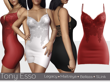 Tony Esso - Looking So Perfect Lace Dress (Red)