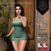 **Mistique** Naimi Cotton Green{wear me and click to unpack)