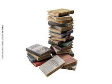 Nutmeg. Forgotten Library Book Pile