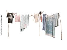 Nutmeg. Laundry Day Clothesline