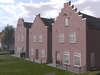 Dutchie 3 Red Brick Buildings with traditional Dutch Gables for store, cafe, restaurant or residential use Unfurnished