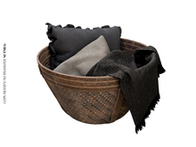 Nutmeg. Disarray Wicker Basket Dark