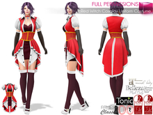 Full Perm Red Witch Cosplay Uniform Costume For Maitreya Slink Belleza Tonic Ocacin Classic Body Avatars