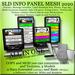 INFO Center Panel Shop 100% Mesh Greeter, Message recorder, Multi Teleporter, Marketplace, Profile, Visitors counter
