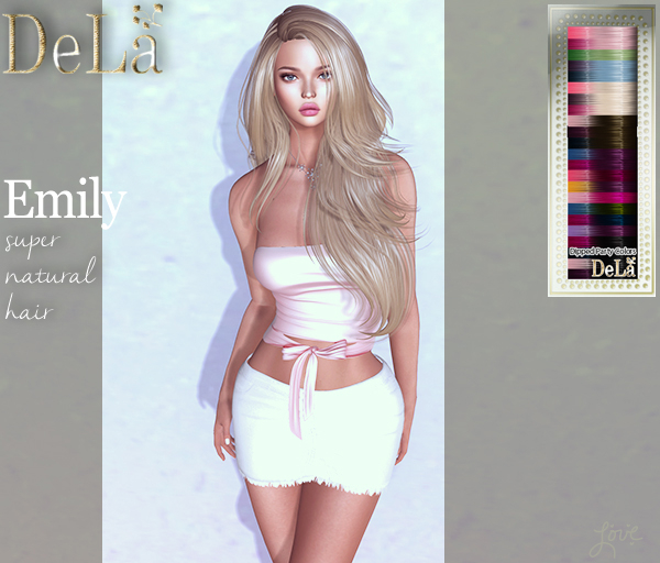 "=DeLa*= Mesh Hair ""Emily"" Dipped Party Colors"