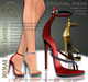 ***ArisArisB&W~MyMar Strap Sandals~CUSTOM HUD