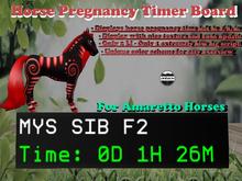 Horse Pregnancy Board - Calculator for your Amaretto horses