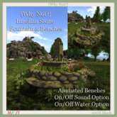 {Why Not?}Innellan Stone Fountain & Benches-Boxed