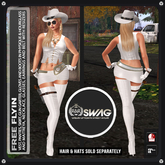 [RnR] Swag Free Flyin Biker & Country Western Outfit (White) /with Maitreya, Physique & Hourglass