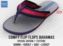 Millo Copperfield - Comfy Flip Flops Bahamas Special Edit. with 1 texture, Copy