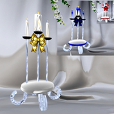 CHARM Wedding Unity Candle Set w/ color change & Candle Lite