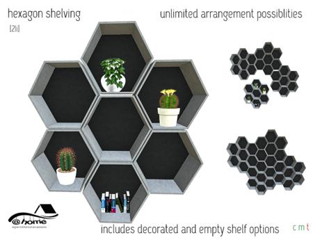@home: hexagon shelving