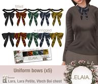 .Elaia. Uniform bow {Maitreya} Four houses