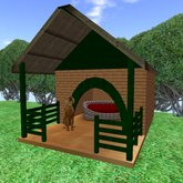 dog's house and bed 犬小屋