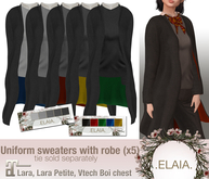 .Elaia. Uniform sweater .w/ robe {Maitreya} Greys