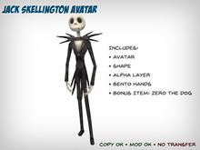 Jack Skellington Avatar with Bento Hands