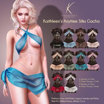 5 Kaithleen's Anytime Silks Top - Black Maitreya Lara RARE