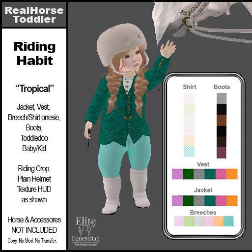 *E* Toddler English Riding Habit Tropical  [Add & Click]