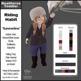 *E* Toddler English Riding Habit Summertime  [Add & Click]