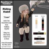 *E* Toddler English Riding Habit Cream  [Add & Click]