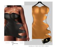 Vague. Yamina Dress Gold
