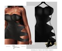 Vague. Yamina Dress - Black -