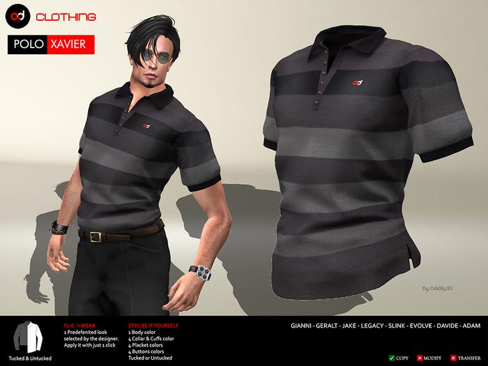 A&D Clothing - Polo -Xavier- Ebony