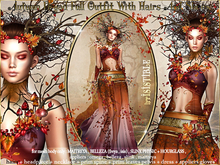 irrISIStible: AUTUMN DRYAD FULL OUTFIT WITH HAIRS AND SHOES