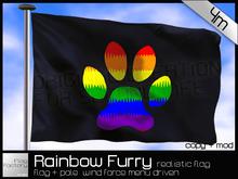 Gay Furry flag * Rainbow Furry Pride pawed flag * copy/mod